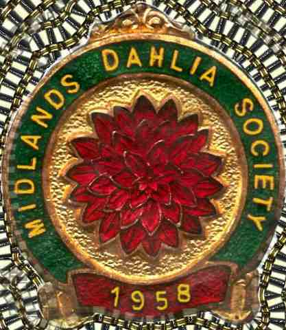Midlands Dahlia Society Logo based on the original 1958 broach